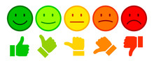 Valuation By Emoticons - Stock Vector
