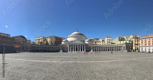 Panorama of Piazza Plebiscito, Naples, Italy Canvas-taulu