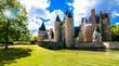 Romantic medieval castles of Loire valley - beautiful Chateau du Moulin. France