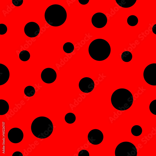 Photo  Ladybug pattern; Seamless vector