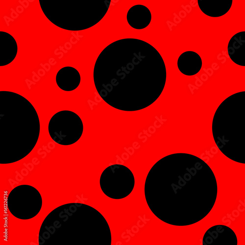 Photo  Red background with black spots