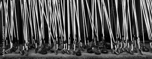 Deurstickers Golf Old Golf Clubs