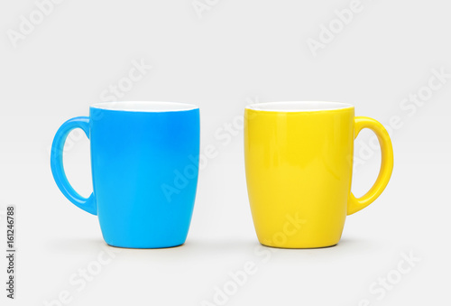 Bol mugs bleu et jaune