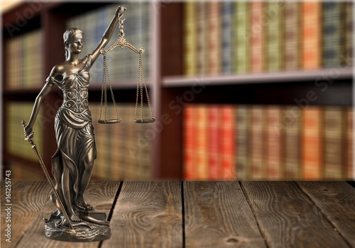 Statue of justice. Wallpaper Mural