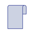 blue silhouette of sheet continuously in blank vector illustration