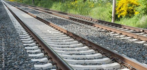 Fotoposter Spoorlijn Schienen, Zugverkehr in Schleswig-Holstein, Deutschland