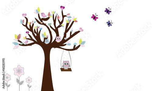 Drzewo z sowami i huśtawka 6.
