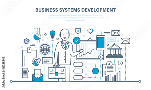 Business systems development, analysis and research, marketing, planning, graph, strategy.