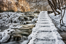 Wooden Path Over The Frozen An...