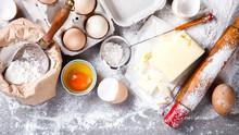 Background Baking Ingredients ...