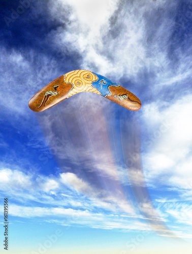 Photo Boomerang flying fast.