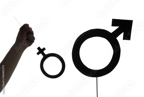 Male Chauvinism Woman Rights And Gender Equality Concept Also