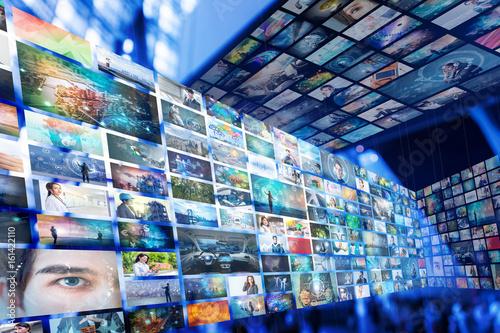 Fotografía  Information network concept