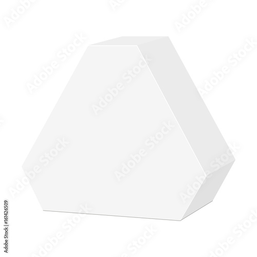 white cardboard hexagon triangle carry box bag packaging for food