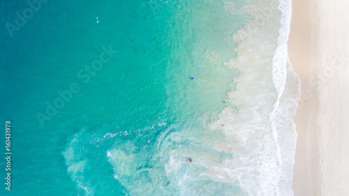 mata magnetyczna Aerial View of Beautiful Crystal Cove, Orange County