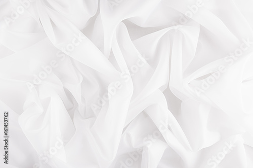 Fotobehang Stof White smooth silky texture for wedding background.