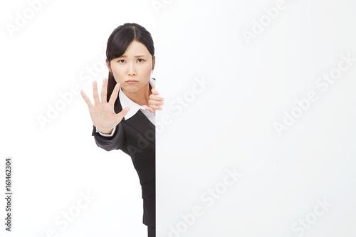 女性 ビジネスウーマン 制止 Tablou Canvas
