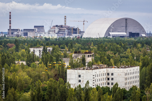 Fotografie, Obraz  New shelter of Nuclear Power Station in Chernobyl Exclusion Zone, Ukraine