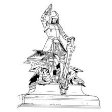 It Is A 16th Century Jewel Encrusted Statue Of Saint George Slay