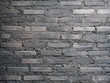 Black brick wall, texture for background.