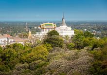 Temple On Topof Mountain,Architectural Details Of Phra Nakhon Khiri Historical Park (Khao Wang), Phetchaburi (Thailand)