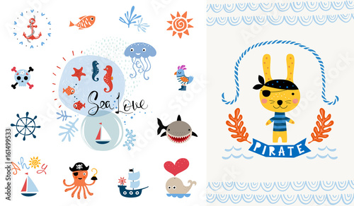 Pirate party invitation vector illustration buy this stock pirate party invitation vector illustration stopboris Image collections