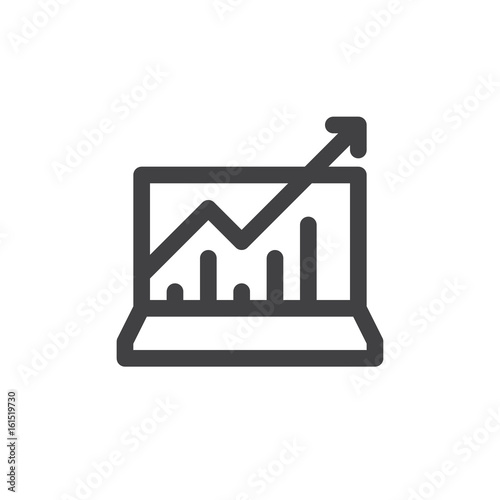 Statistics charts line icon outline vector sign linear style statistics charts line icon outline vector sign linear style pictogram isolated on white ccuart Images