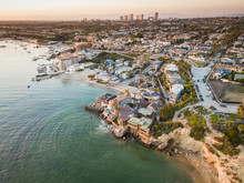 Aerial Of Newport Beach Corona...