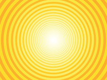 Yellow Radial Circural Background