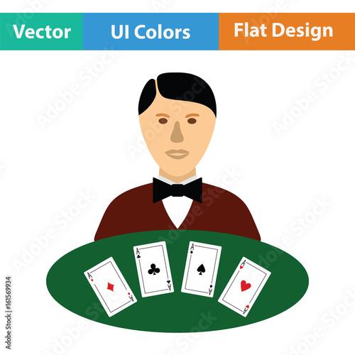 Casino dealer icon плакат