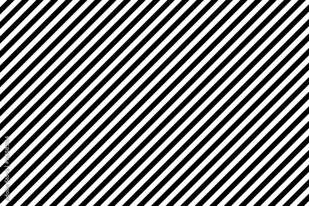 Fototapeta Stripes diagonal pattern. White on black. Vector illustration.