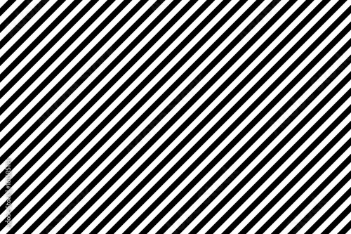 Stripes diagonal pattern. White on black. Vector illustration. Tablou Canvas