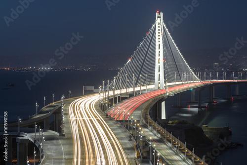 Obraz na płótnie San Francisco-Oakland Bay Bridge Eastern Span at Night