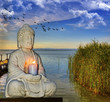 conceptual de meditacion y relajacion