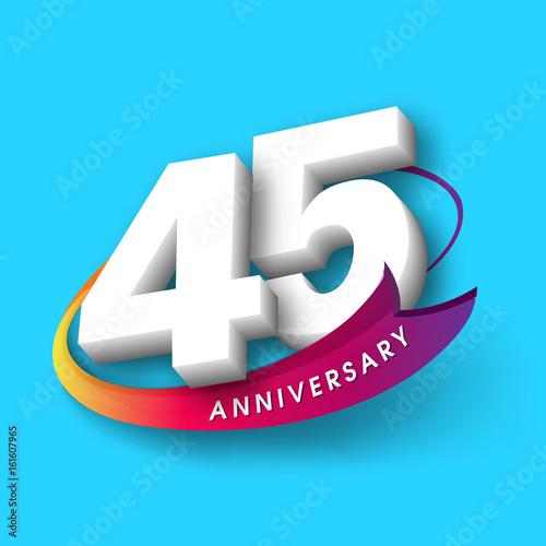 Photographie  Anniversary emblems 45 anniversary template design
