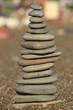 башня из камней на пляже