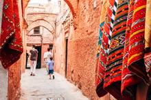 Colorful Street Of Marrakech M...