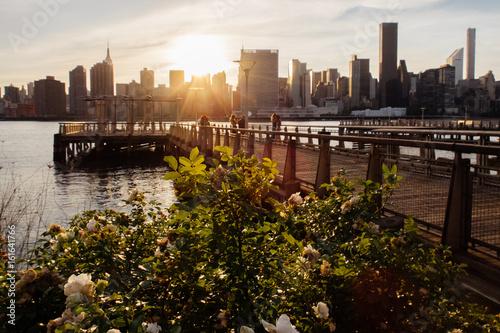 Fényképezés  Manhattan Midtown Skyline view from Long Island City, Queens New York USA