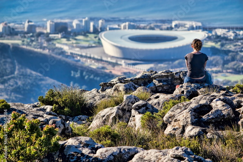 Garden Poster South Africa Kapstadt, Blick vom Tafelberg