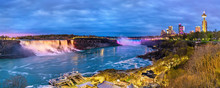 Panoramic View Of Niagara Fall...