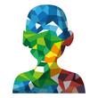 male head silhouette vector illustration graphic design
