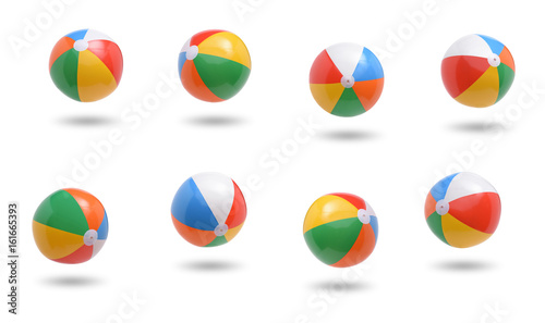 Stampa su Tela Beach balls collection isolated on white background