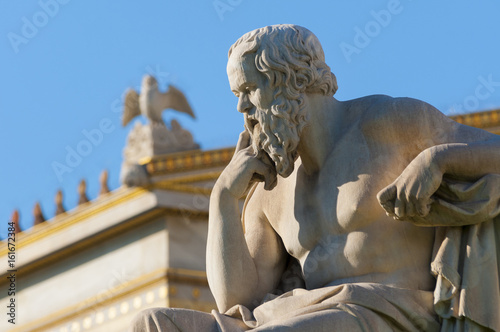 Canvas Prints Historic monument classic statue Socrates