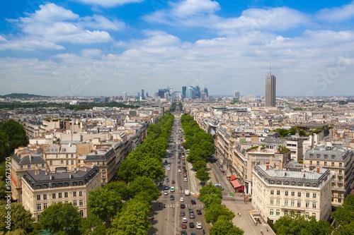 Papiers peints Paris View from Arc de Triomphe in Paris