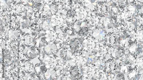 3D illustration group of mane round diamond Canvas Print