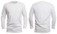 White Long Sleeve Shirt Mock Up
