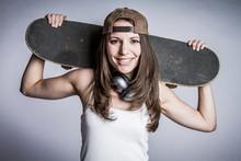 Smiling Skater Girl