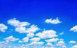 Leinwandbild Motiv blue sky with cloud  for spring summer background