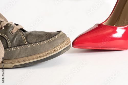 258c69686f5c6a Herrenschuh und ein roter High Heel Damenschuh - Buy this stock ...