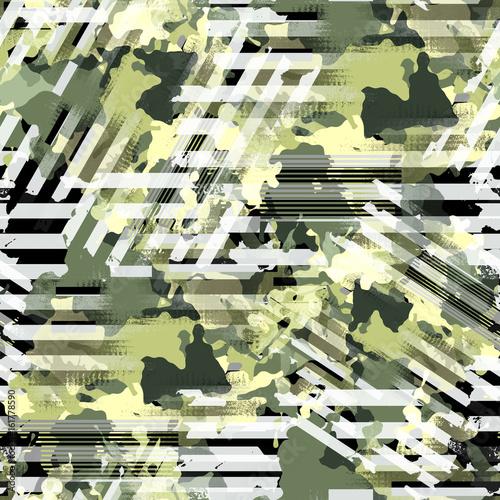 Photo  Seamless pattern camouflage design